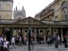 Plaza ante baños y abadia en Bath