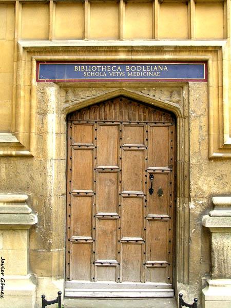 Entrada a la Biblioteca Bodleiana