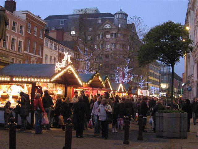 Mercadillo navideño en Manchester