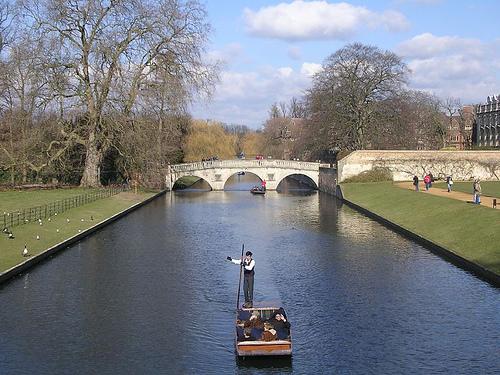Paseo en barco por el rio Cambridge