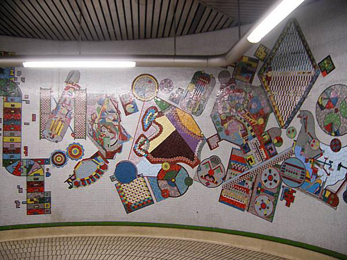 Murales en el metro de Londres