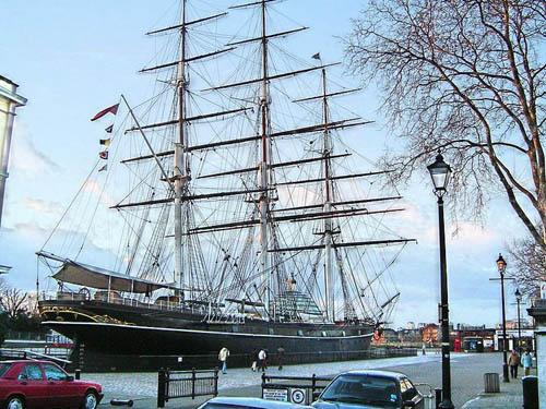 El barco-museo Cutty Sark, en Greenwich