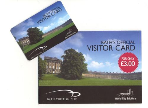 Bath Visitor Card, la tarjeta turística de Bath