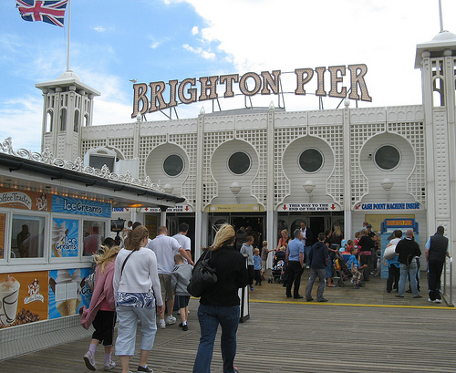 The Brighton Pier, diversión junto al mar en Sussex