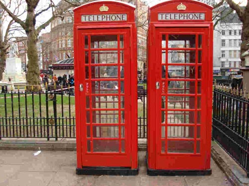 cabinas telefonicas en inglaterra