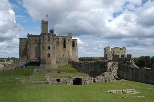 Las ruinas del Castillo Warkworth