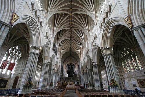 La catedral medieval de Exeter