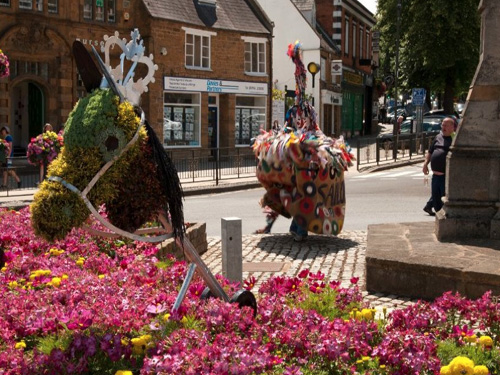 El festival de Hobby Horse en Somerset