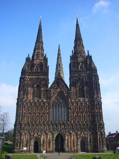 La catedral gótica de Lichfield
