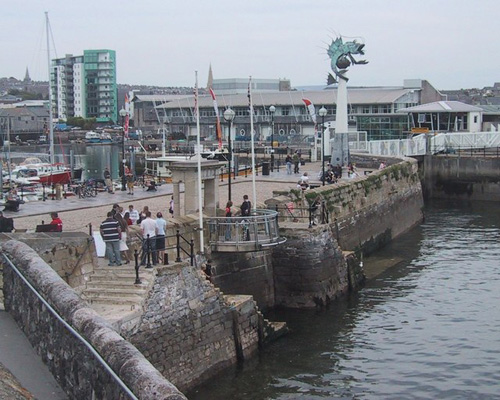 Mayflower Steps, monumento en Plymouth