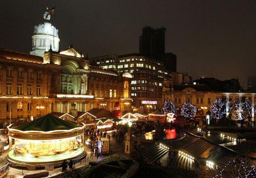 Mercadillo de Navidad de Birmingham, con encanto alemán