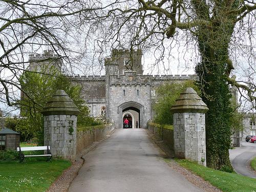 Powderham Castle, lo que queda del día